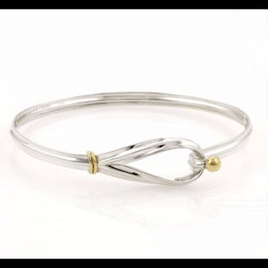 Tiffany & Co. 18K gold & sterling silver bracelet